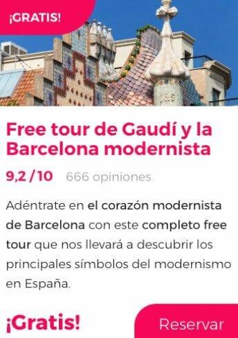 free tour barcelona gaudí modernista
