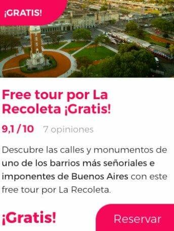 free tour buenos aires recoleta