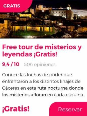 free tour caceres misterios y leyendas