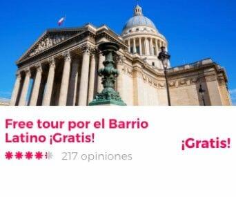 free tour paris barrio latino