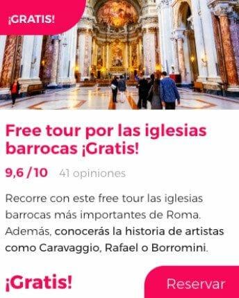 free tour iglesias barrocas roma