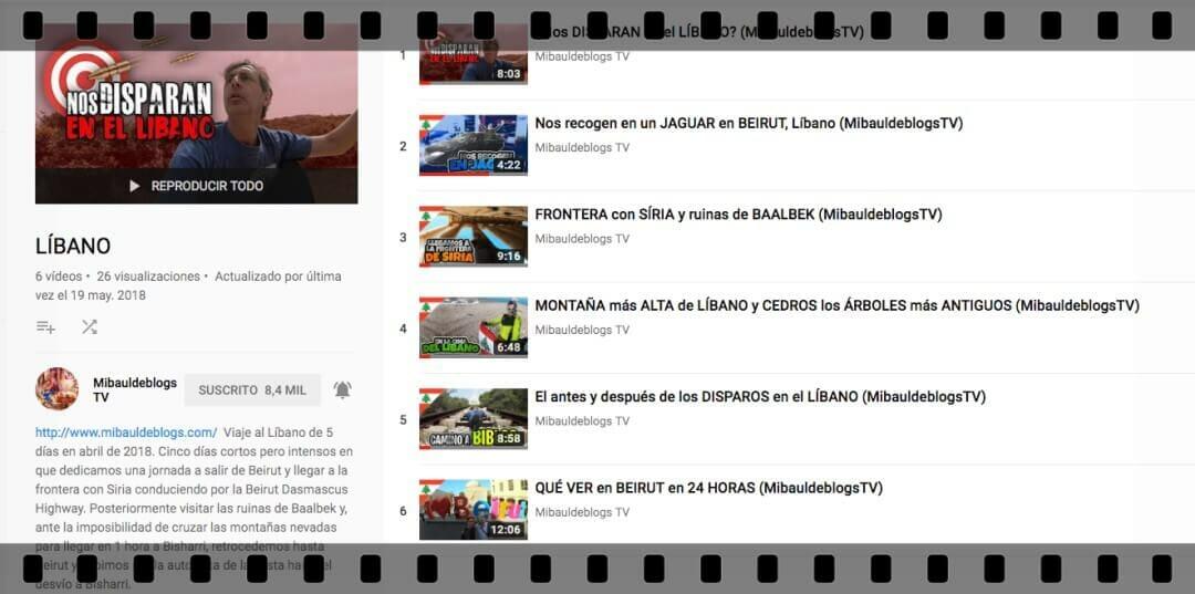 videos líbano de youtube