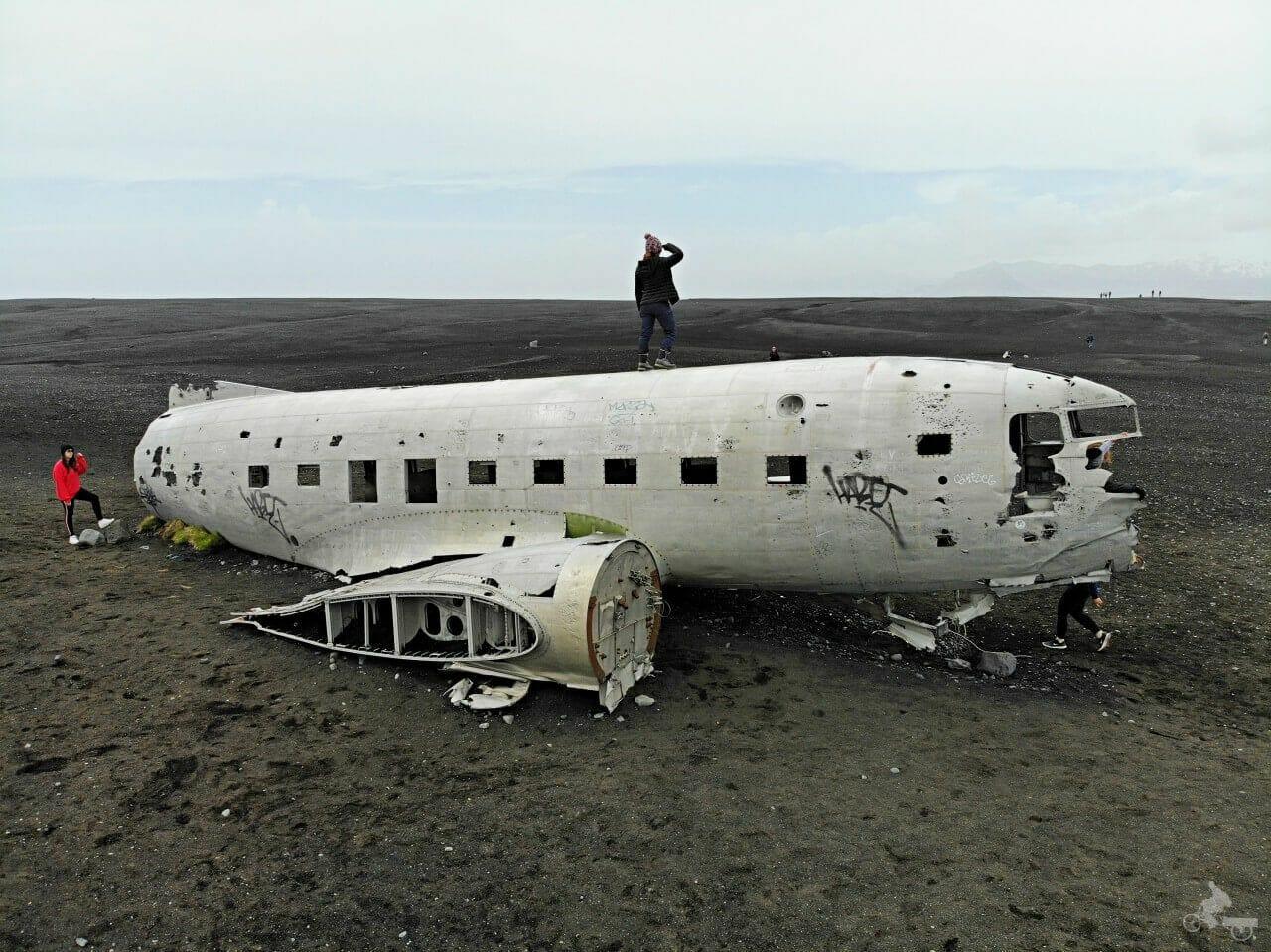 Avión estrellado de Islandia en Solheimasandur