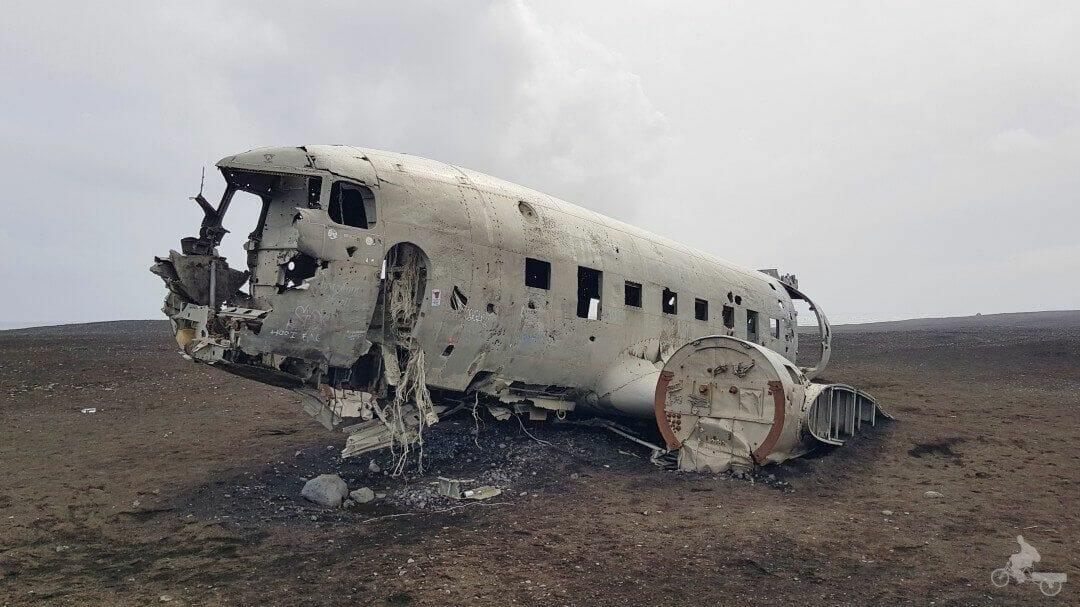 avion abandonado islandia