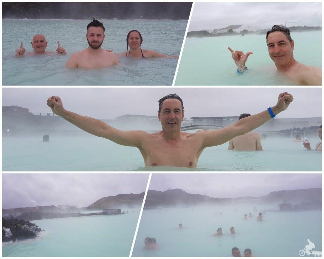 baño en blue lagoon islandia