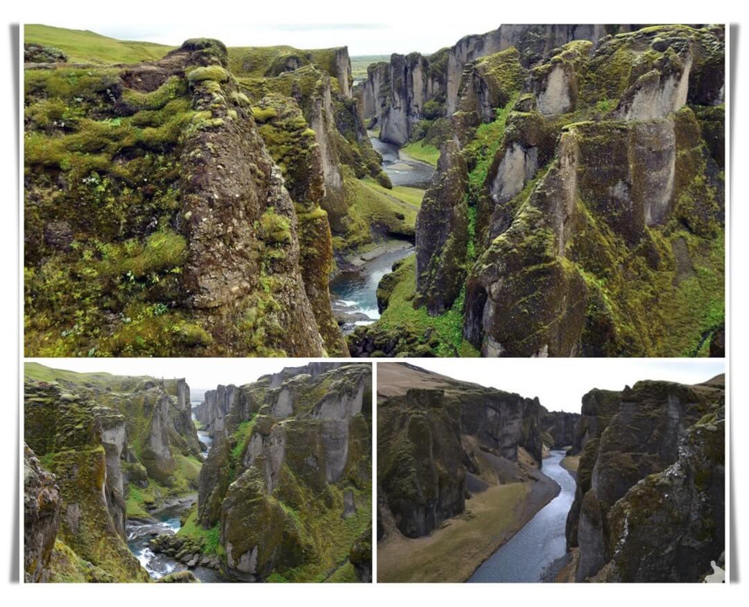 cañon Fjaðrárgljúfur islandia