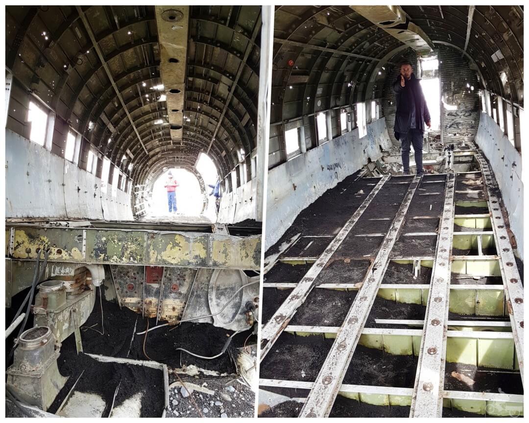 interior avion estrellado islandia