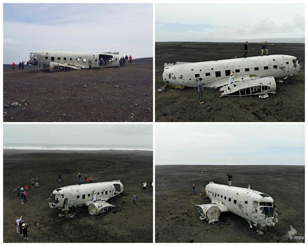 islandia avion estrellado vista drone