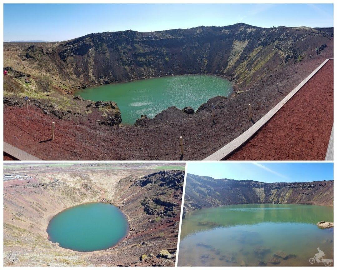 lago kerid círculo dorado islandia