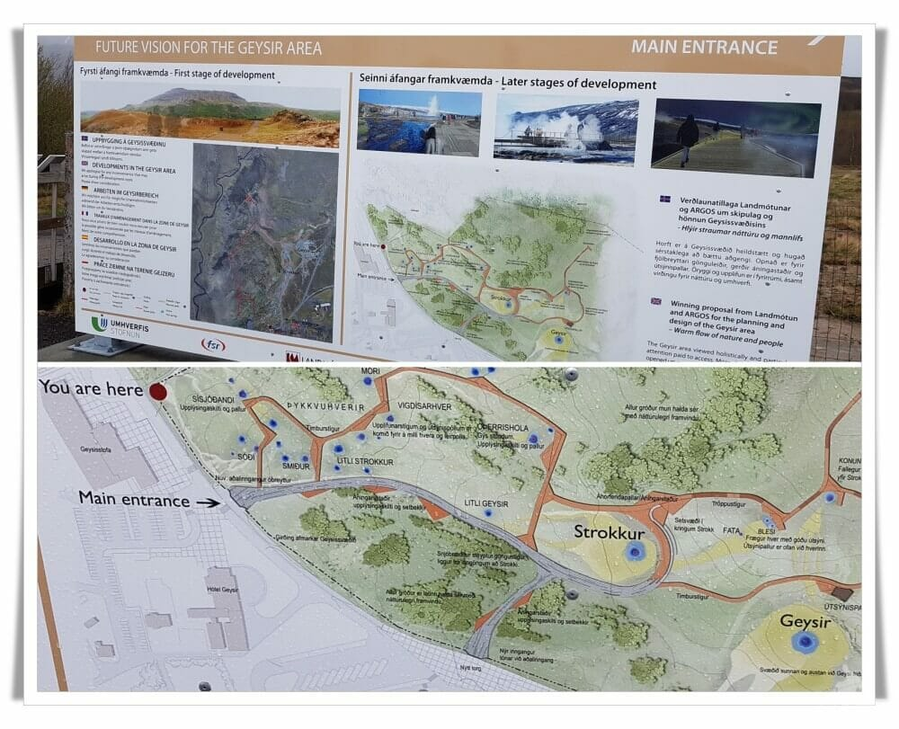 mapa parque geysir islandia