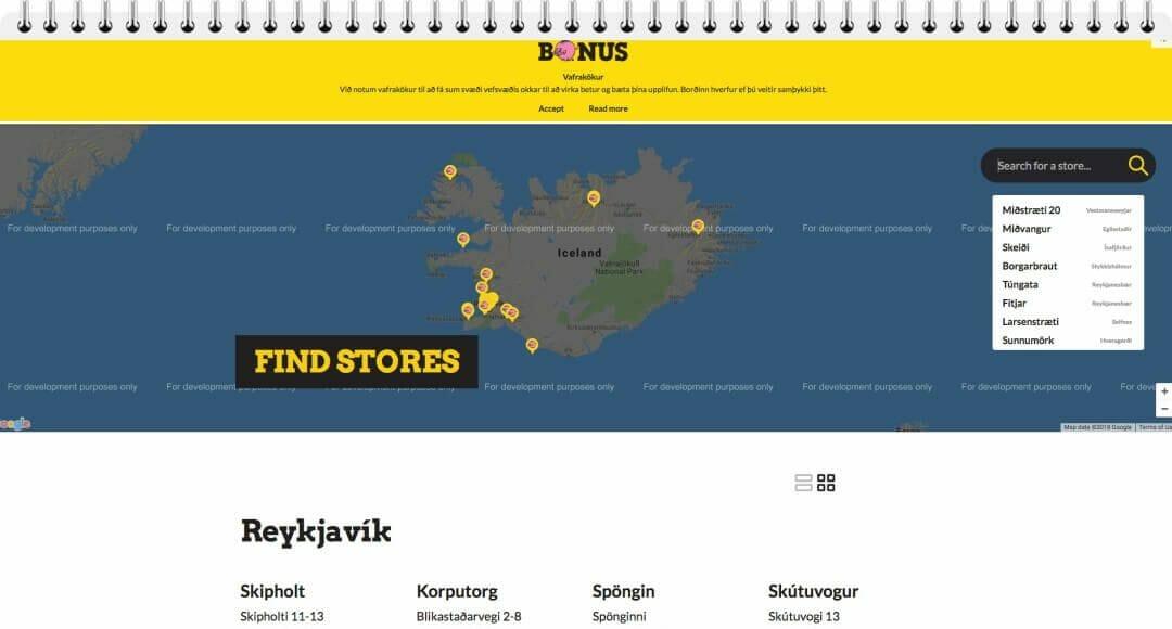 Supermercados Bonus Islandia