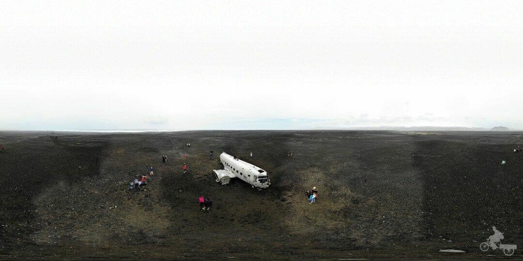 playa avion estrellado islandia