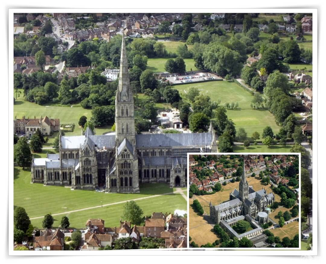 catedral salisbury desde el aire