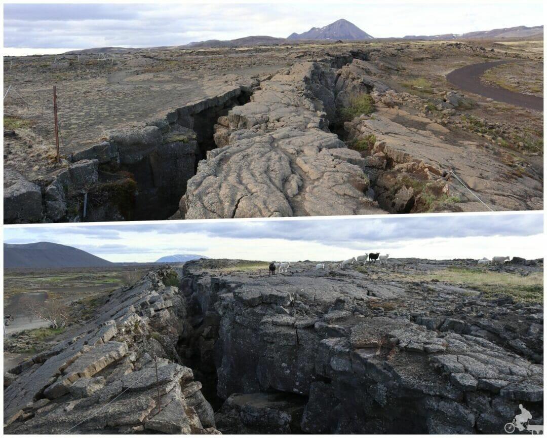 Cueva Grjotagja grieta