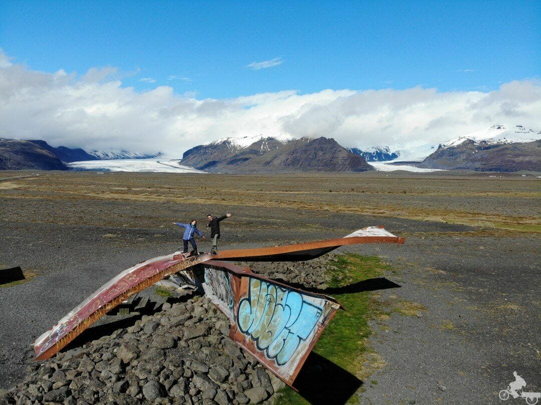 puente Skeiðarársandur abandonado islandia