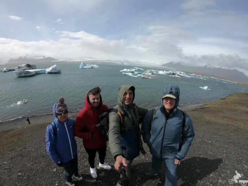 Lago Jökulsárlón panoramica