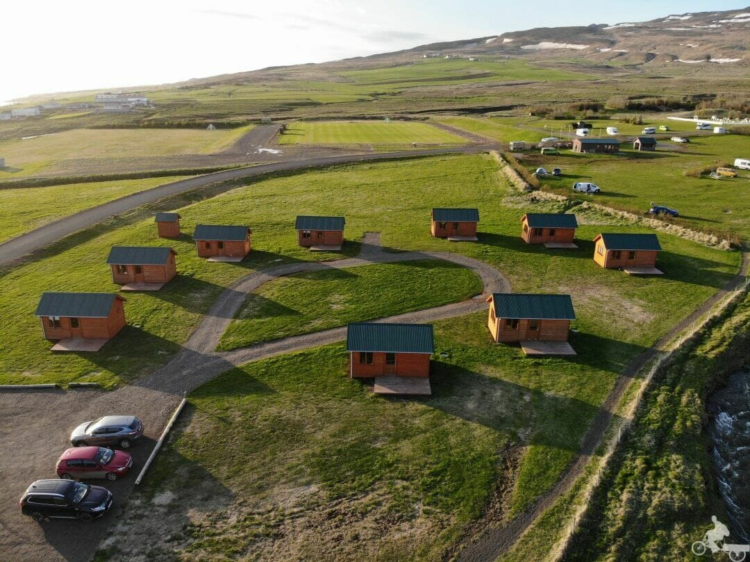 Hvammstangi Cottages drone