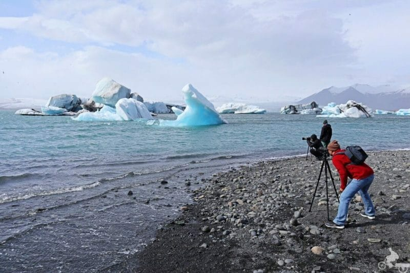 Lago Jökulsárlón fotografos