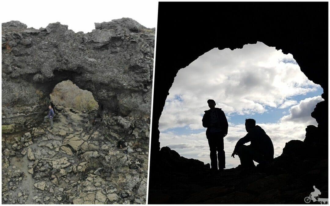 agujero en la lava Dimmuborgir