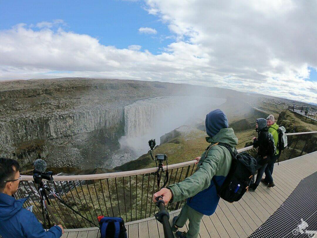 mirador cascada Dettifoss Islandia