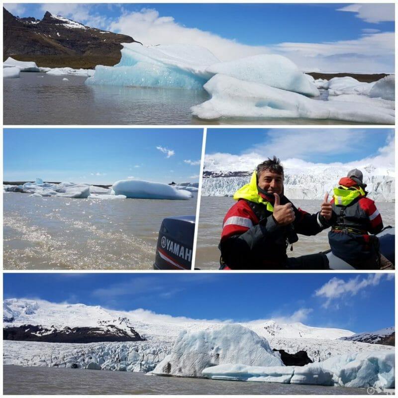 el lago Fjallsárlón en 360º