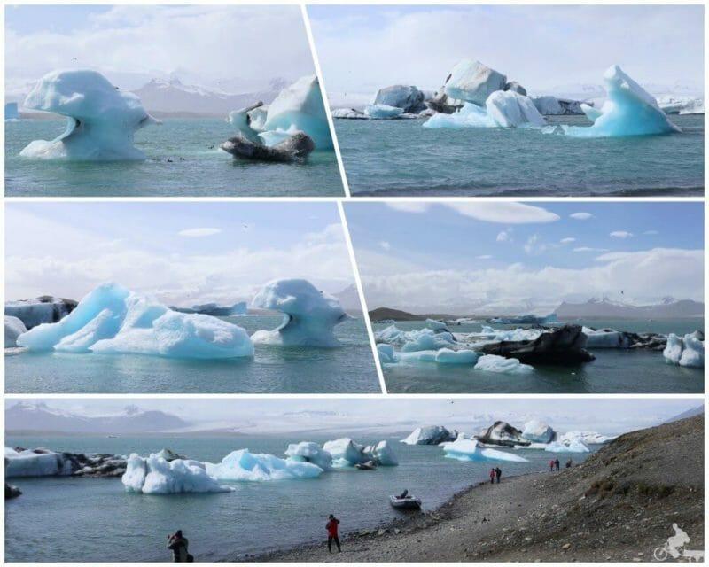 Lago Jökulsárlón icebergs