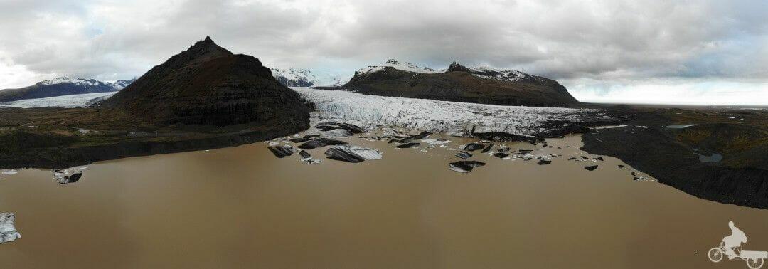 glaciar skaftafell drone