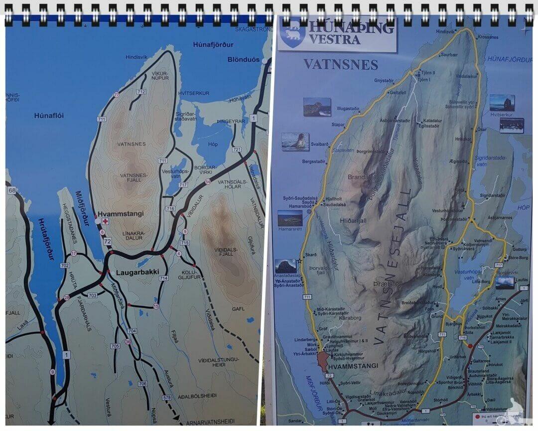 peninsula vatnsnes mapa