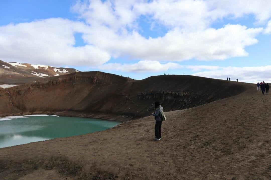 sendero que rodea crater viti