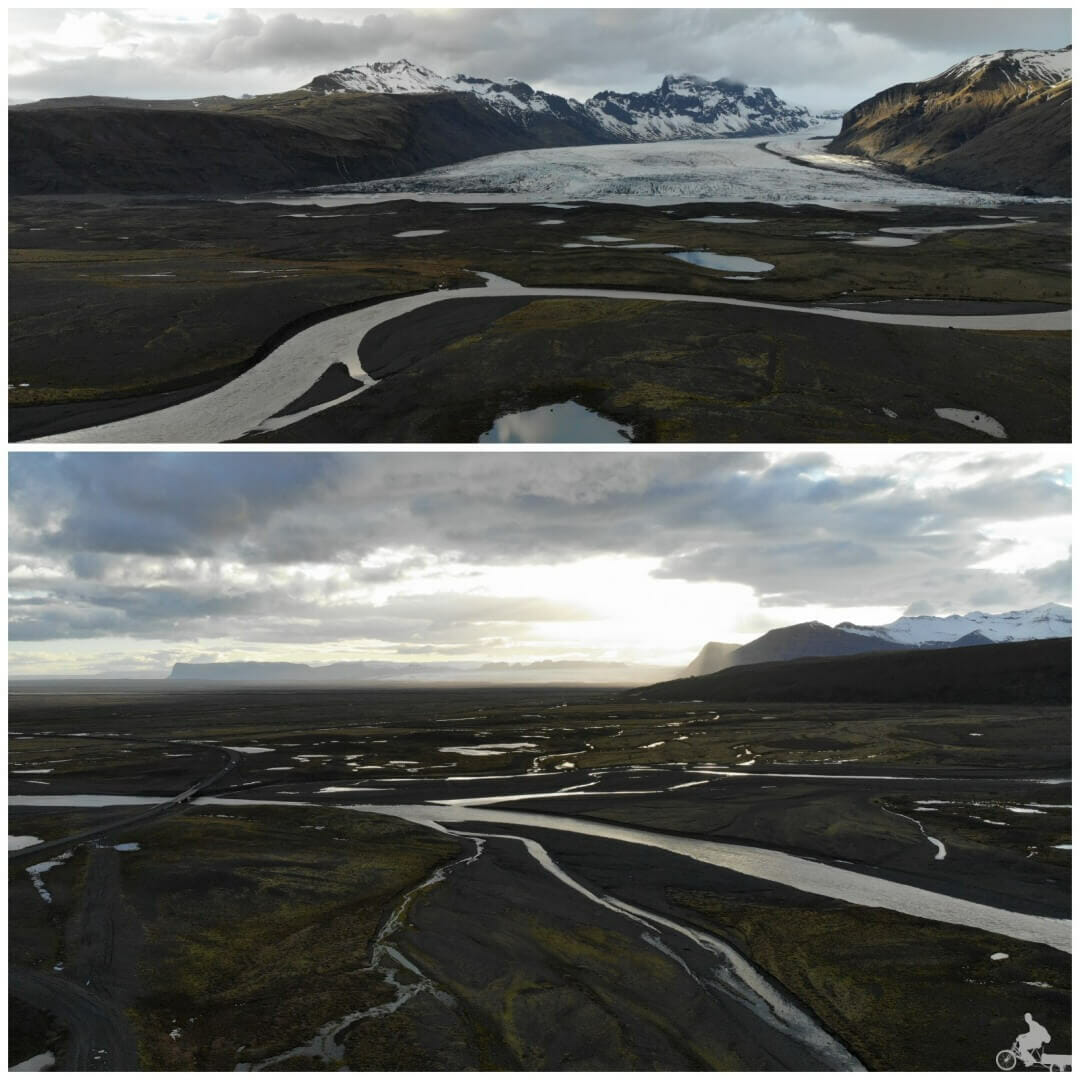 Parque nacional Skaftafell Islandia drone