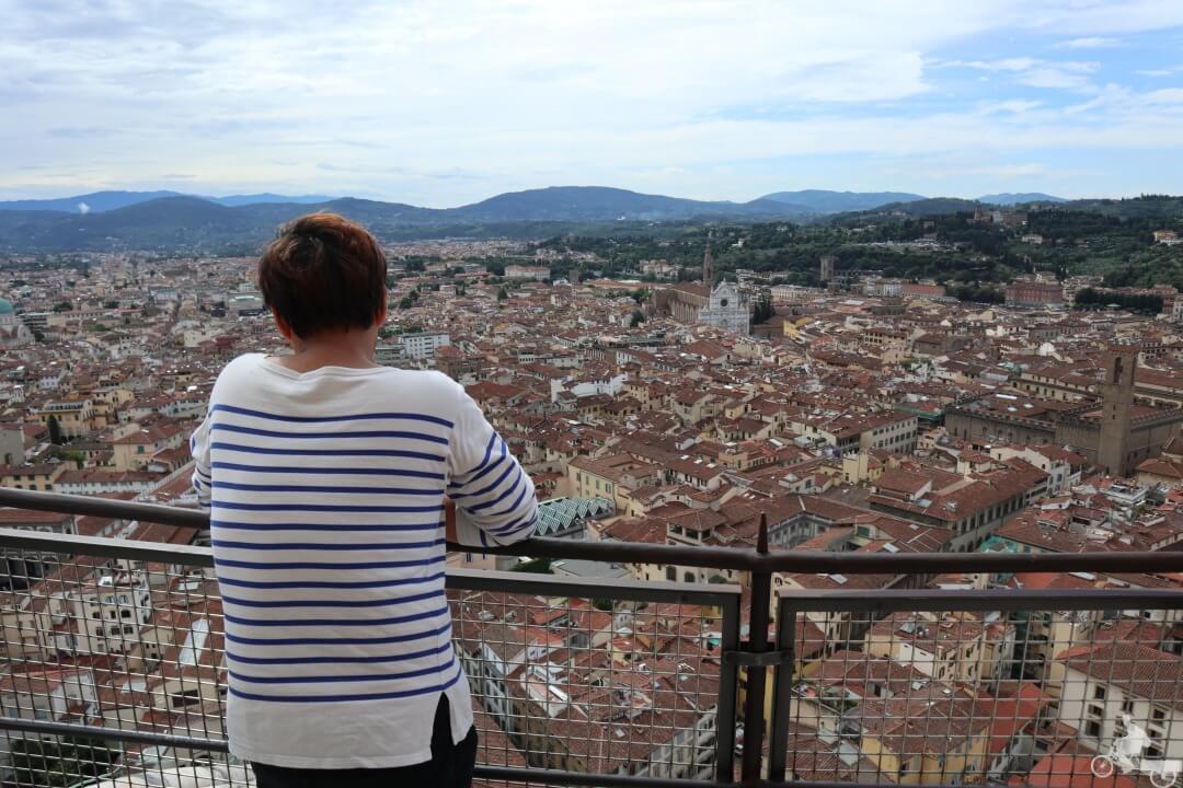 vistas desde la cúpula de la catedral de FLORENCIA