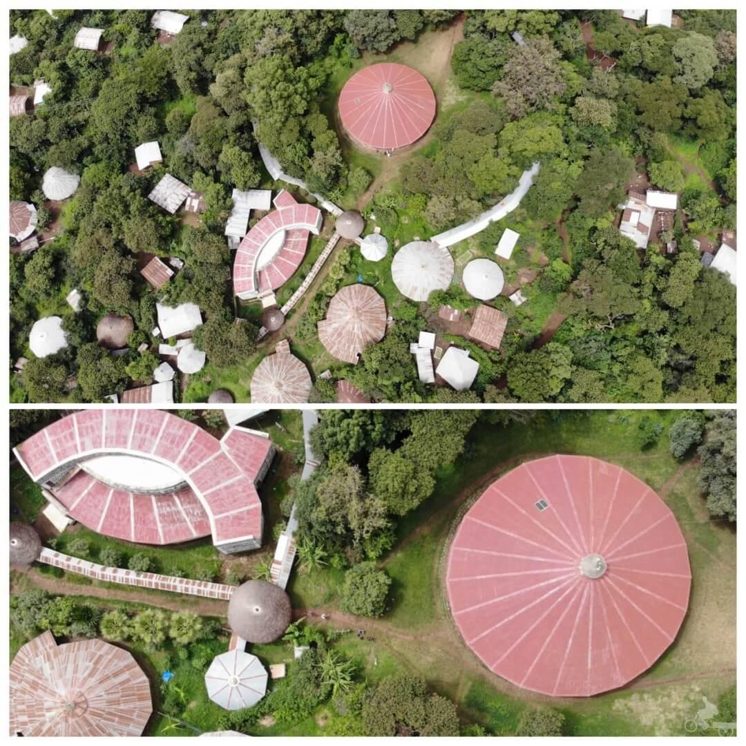 drone Monasterio de Ura Kidane Mere desde el aire