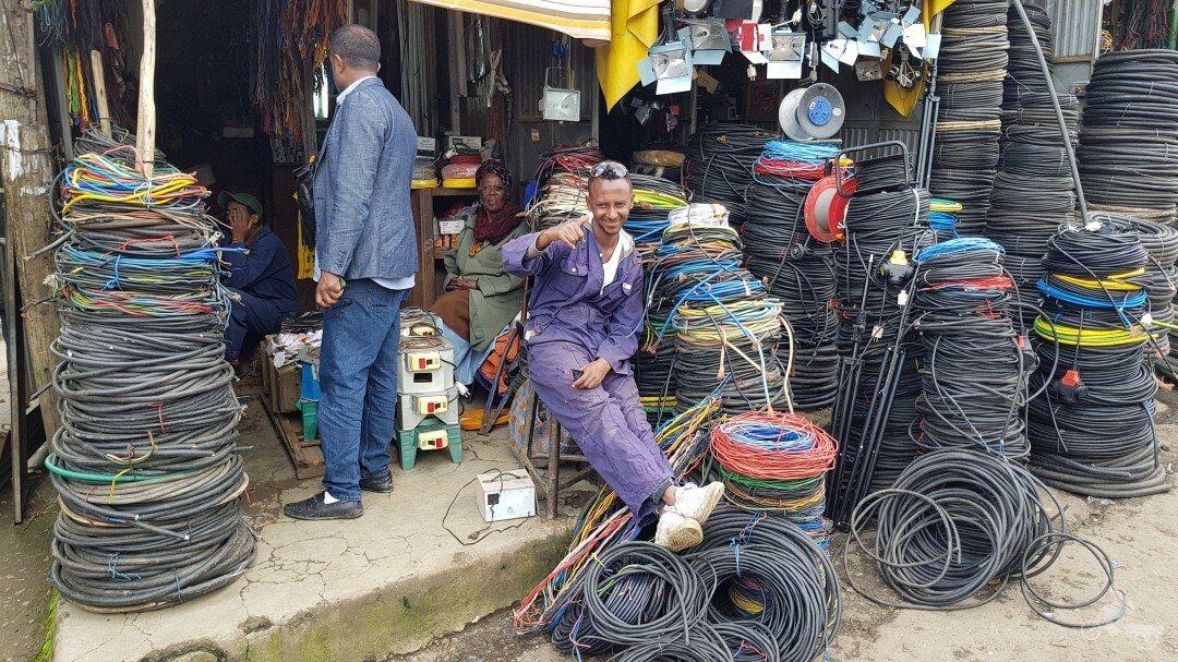 cables mercado adis abeba etiopia
