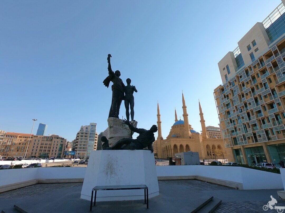plaza de los mártires en Líbano