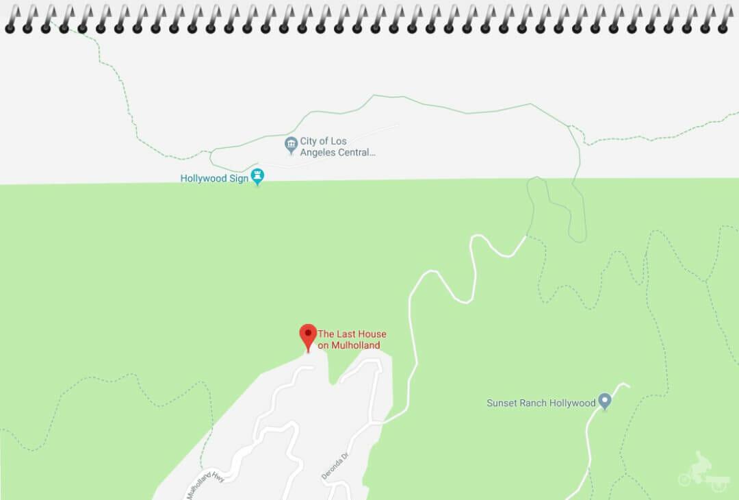 mapa last house on mulholland