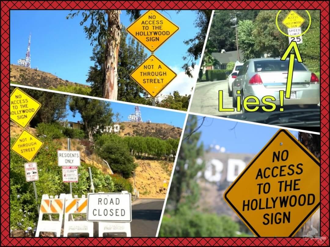 no access to the hollywood sign señal no acceso letras hollywood