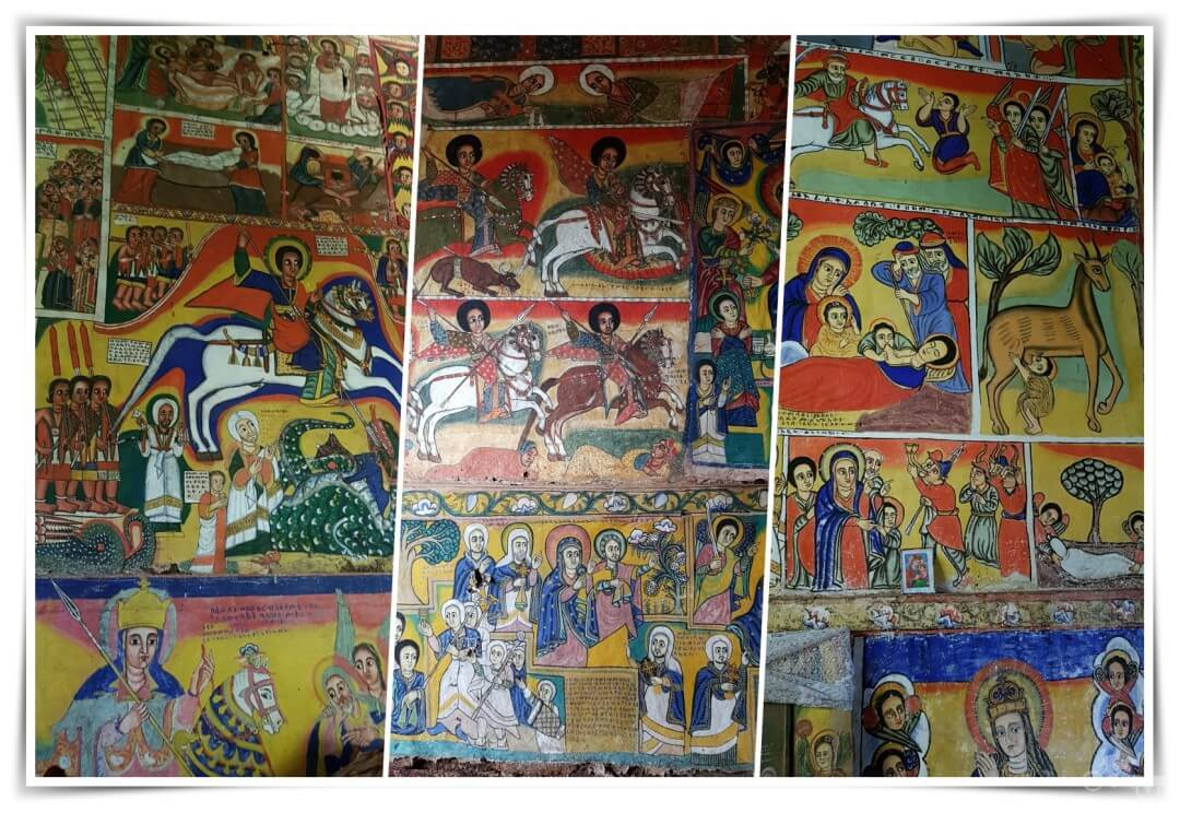 pinturas Monasterio de Ura Kidane Mere