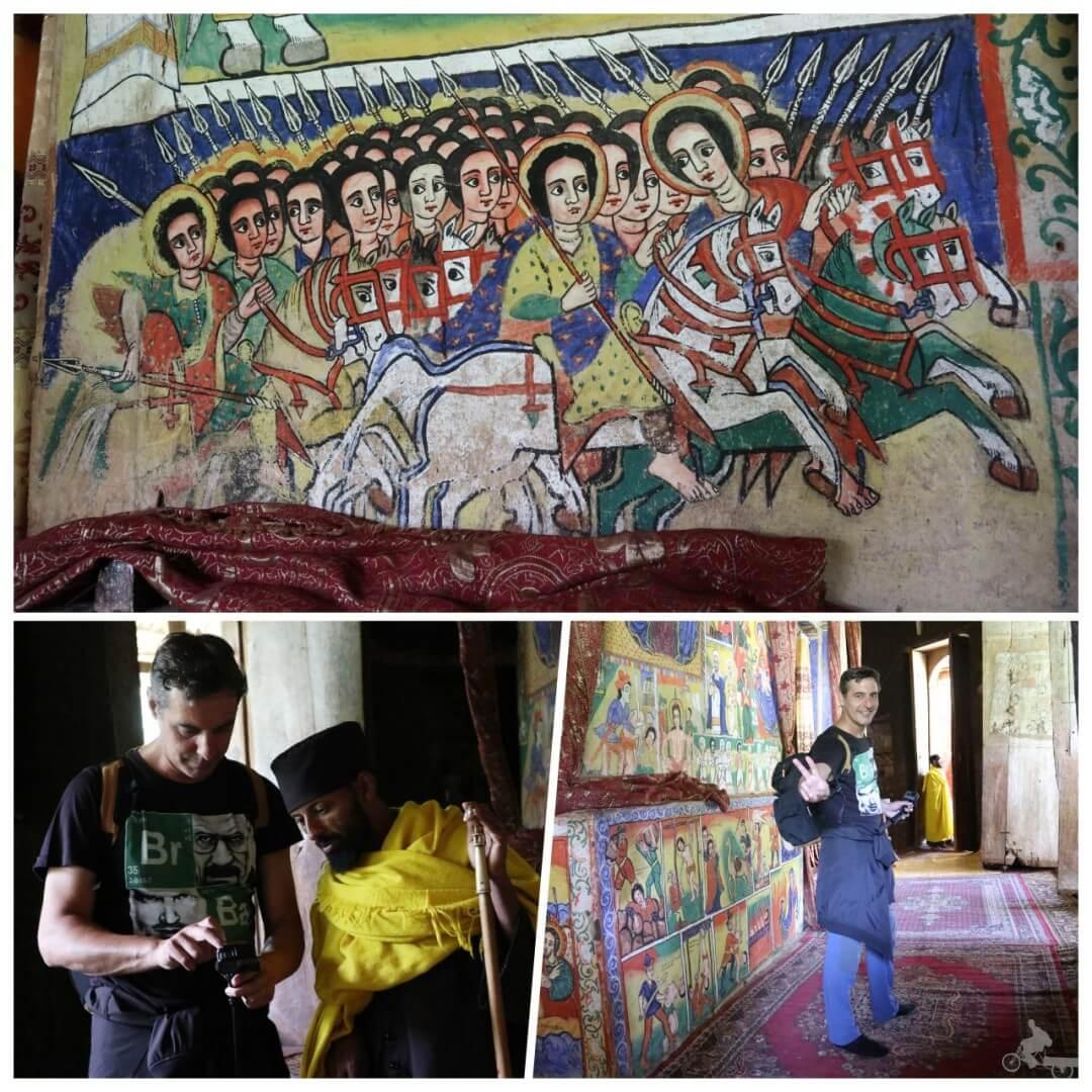 pinturas-monasterio de Bete Maryam