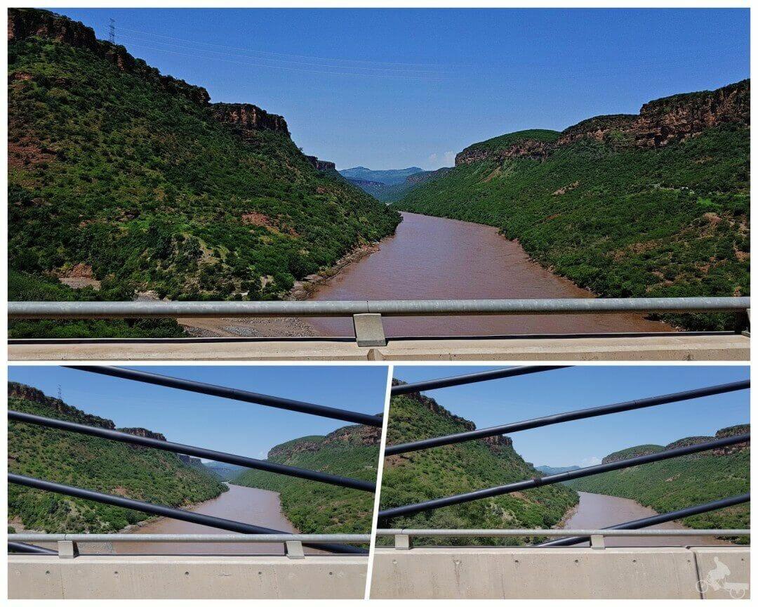 puente sobre rio nilo azul