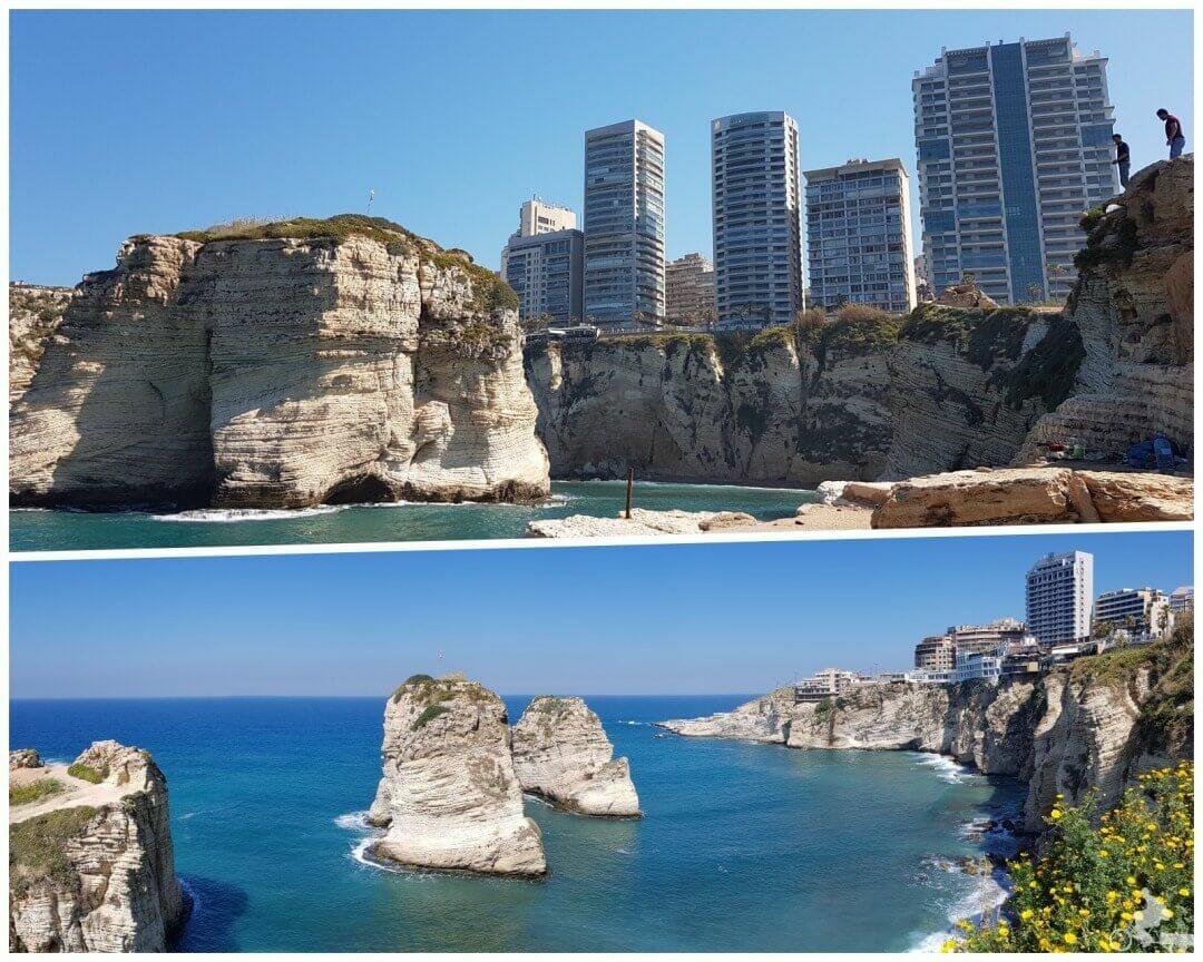 rocas de las palomas de Beirut