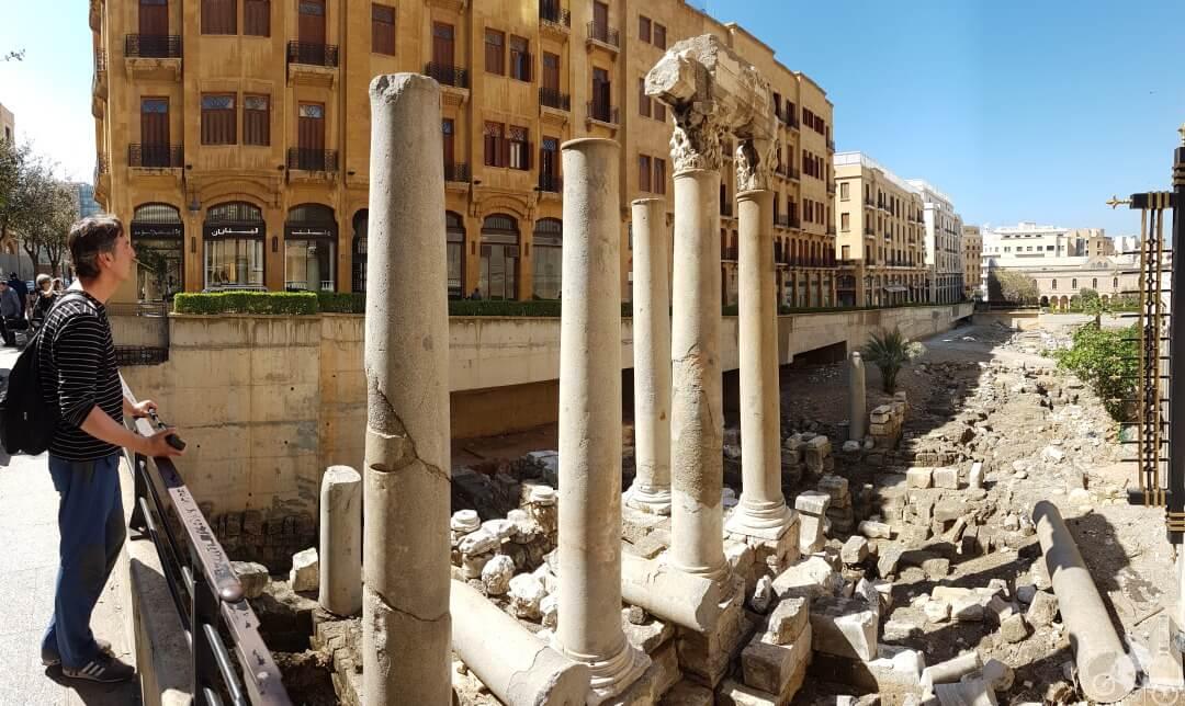ruinas romanas beirut libano