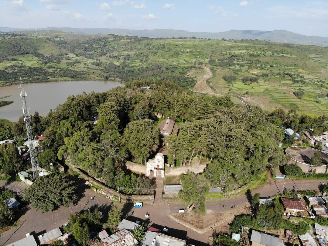 iglesia de Debre Birhan Selassie desde el aire