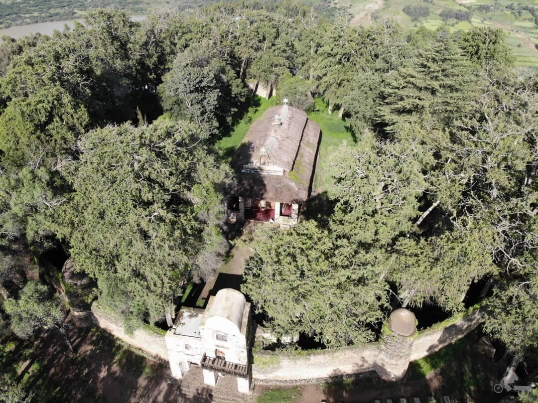 iglesia de Debre Birhan Selassie desde el drone