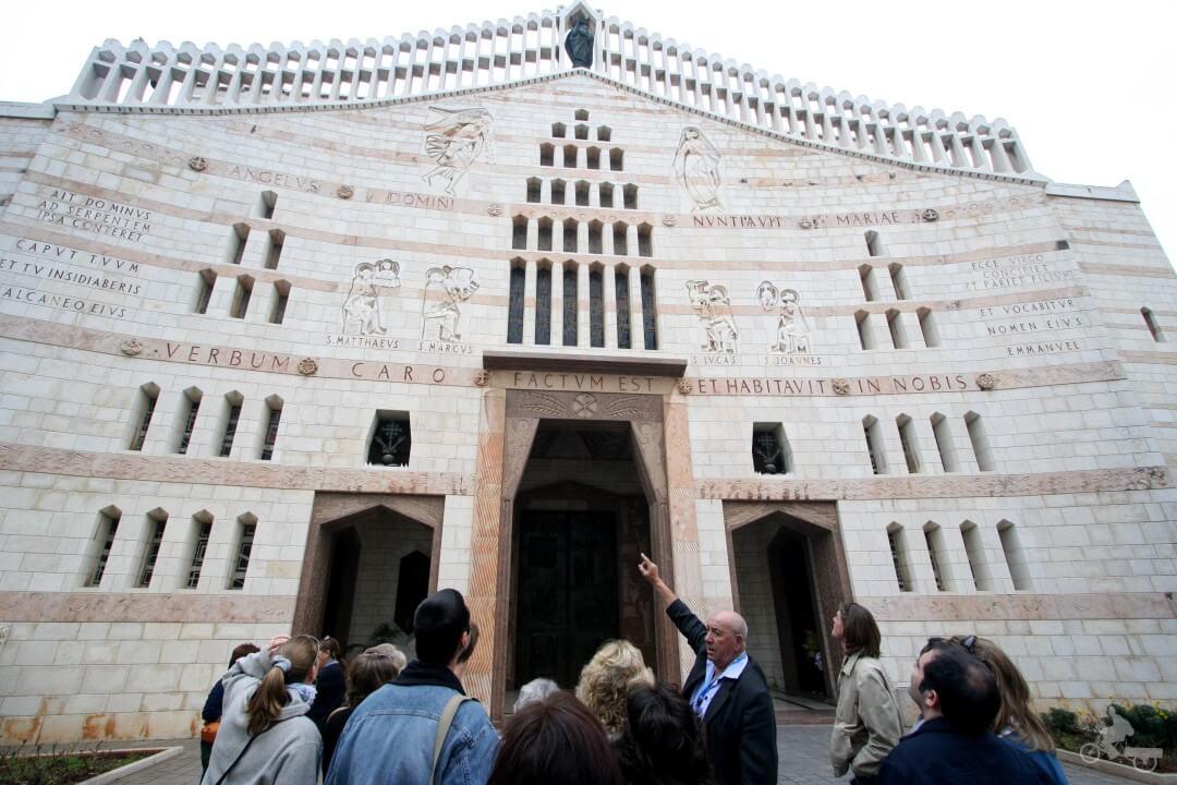 fachada basilica iglesia anunciacion nazareth