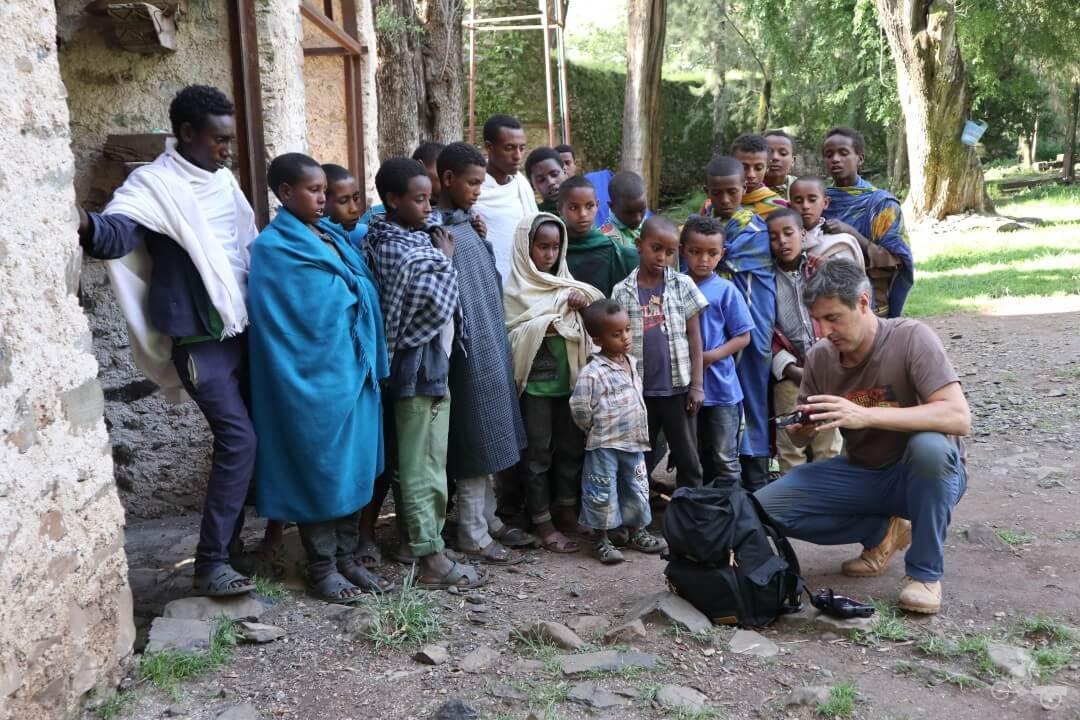 africanos con drone