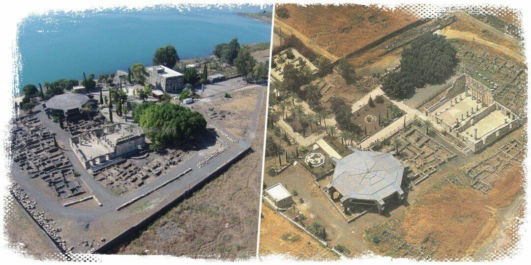 cafarnaum vista drone - Excursión a Nazaret Tiberíades y Galilea