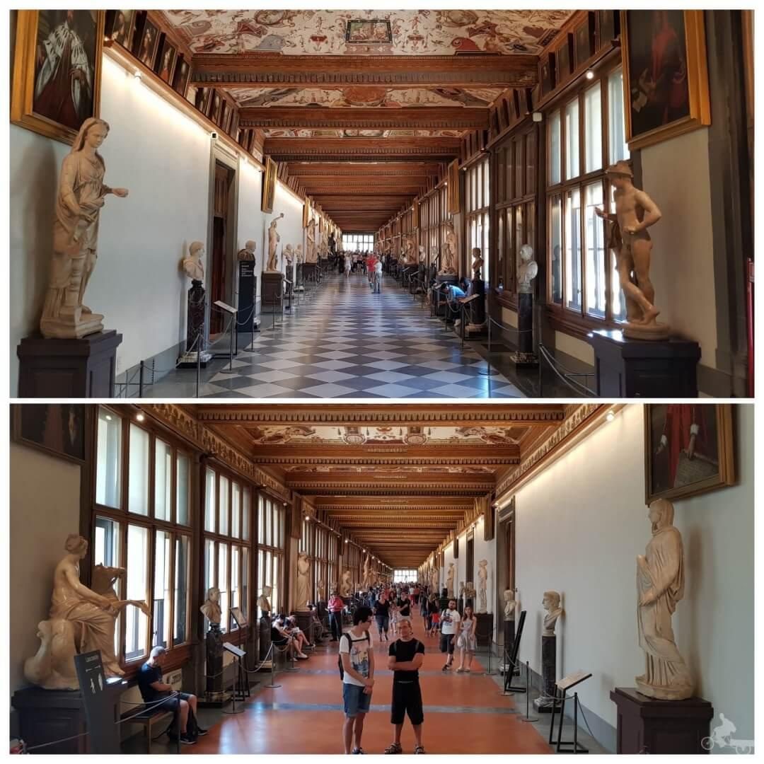 corredor galeria uffizi