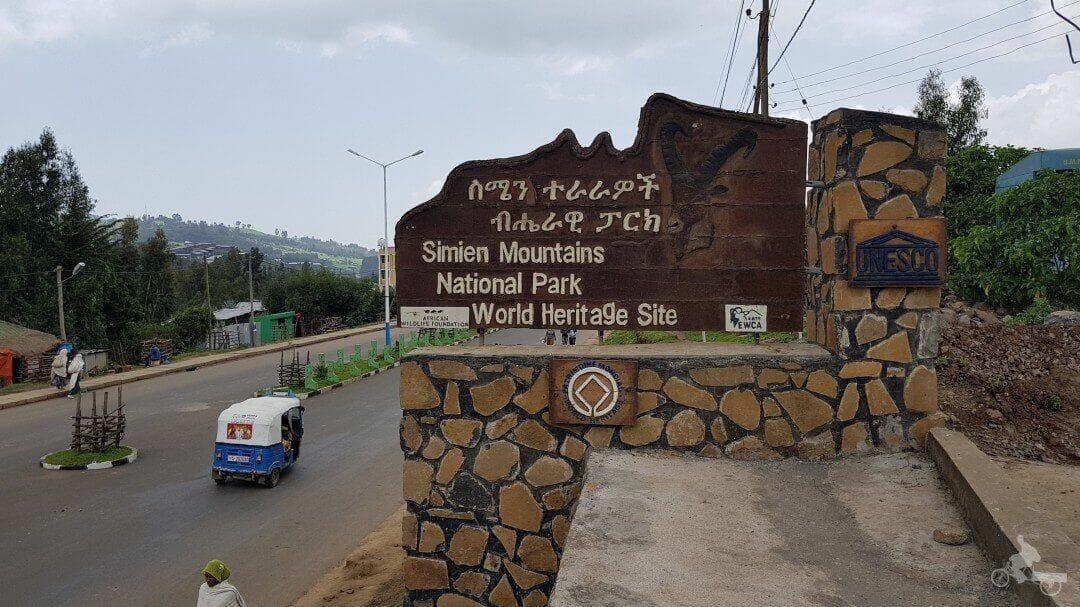 entrada parque nacional de simien