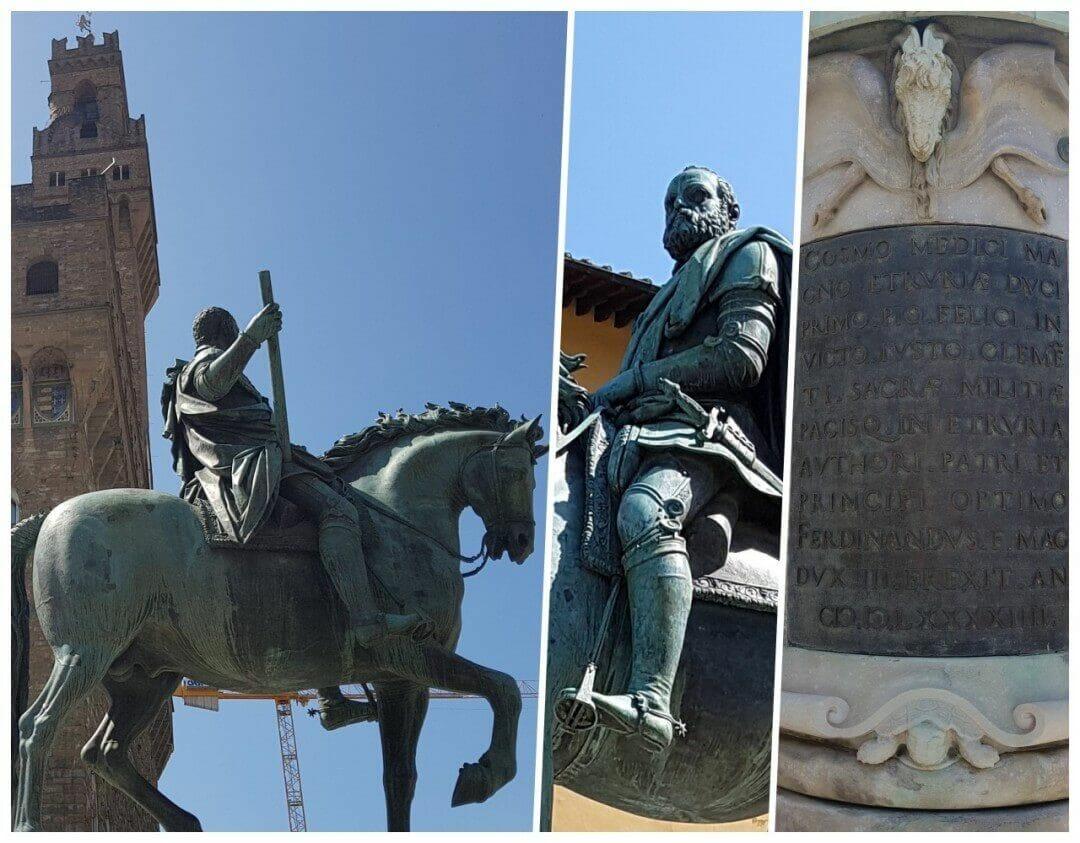 Estatua ecuestre de Cosme I de Medici en nuestro free tour florencia