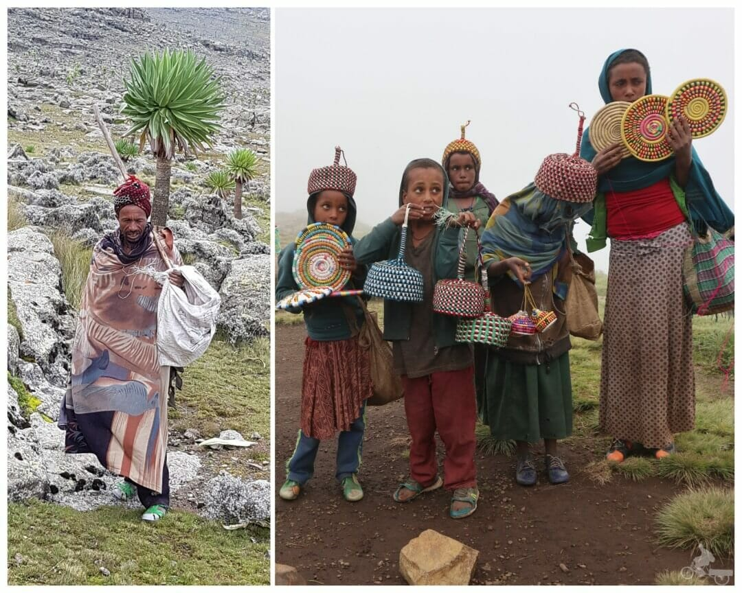 nativos - parque nacional de Simien, Etiopía